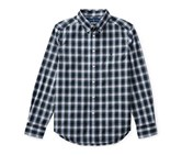 Ralph Lauren Boys Plaid Cotton Shirt, Green/White