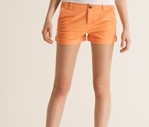 Superdry Women's Commodity Chino Shorts, Peached Coral