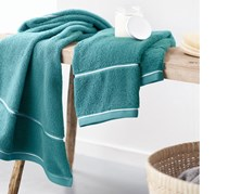 Terry Towel Set of 2, 100 x 50 cm, Turquoise