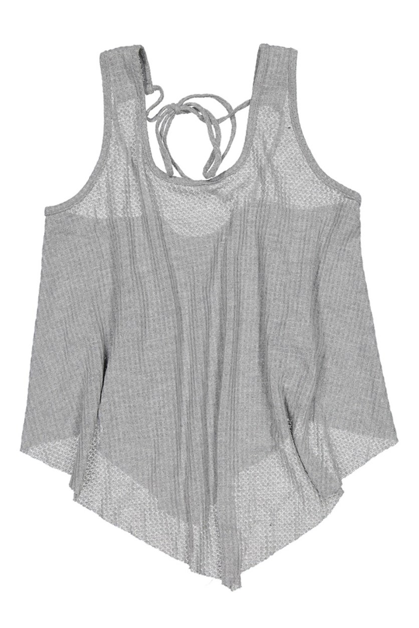 Women's Knit Top, Grey
