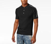 Sean John Mens Sweater Polo Shirt, Black