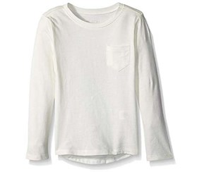 The Children's Place Girl's Long Sleeve Top, Off White