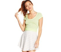 Material Girl Women's Junior's A-Line Skirt, White