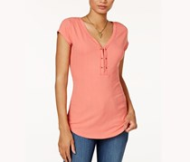 William Rast Gordon Cap Sleeve Top, Faded Rose/Peach