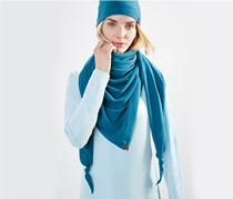 Women's Fleece Scarf, Petrol