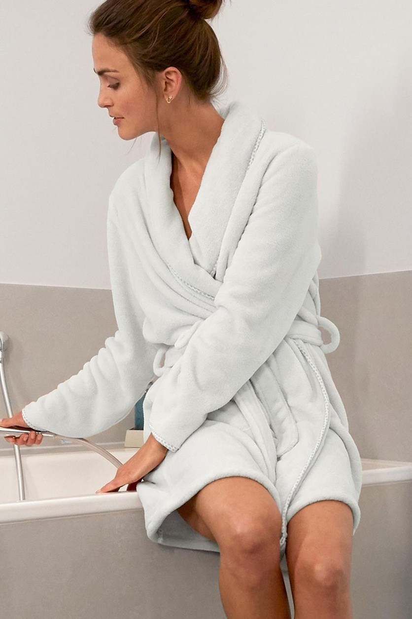 Women's Dressing Gown, Light Grey