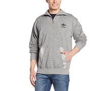Men Noize Half Zip Sweatshirt, Heather Grey