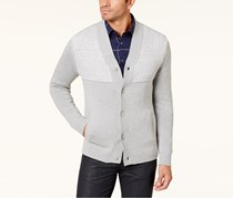 Alfani Men's Button-Up Cardigan, Zinc Heather