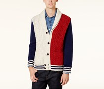 Tommy Hilfiger Men's Stevenson Cardigan, Navy/Red/Off White