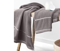 Terry Towel Set of 2, 100 x 50cm, Grey