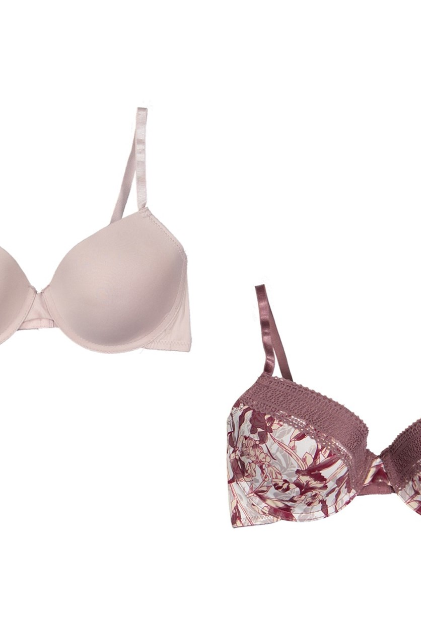 Women's T-Shirt Bra 2pack, Tape/Rose Taupe