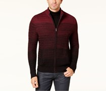 Alfani Mens Ombre Full-Zip Sweater, Port