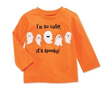 First Impressions Baby Boy's Spooky Tee, Orange