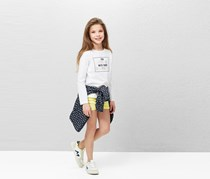 Mango Message Cotton T-Shirt, White