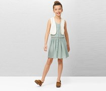 Mango Kids Girls Vest, Cream
