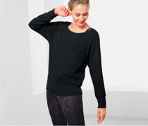 Women's Bat Sleeve Sweat Shirt, Black
