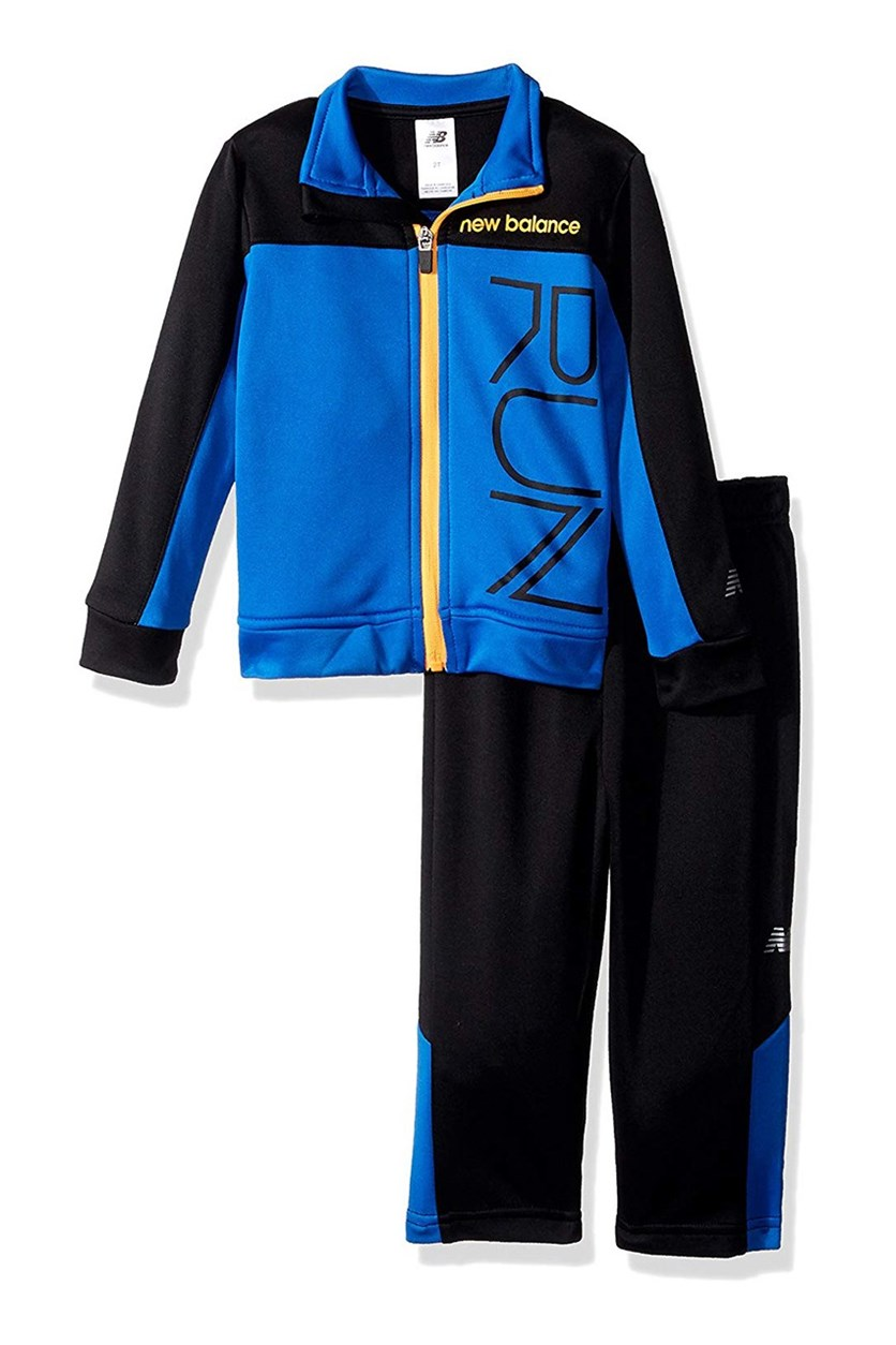 Toddlers Athletic Jacket and Pant Set, Cobalt/Black/Impulse