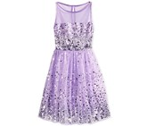 Kids Girls' Sequin Illusion Dress, Lavender