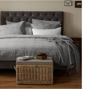 Flannel Duvet Set 135x 200 cm, Grey