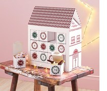 Christmas Calendar House, White/Red