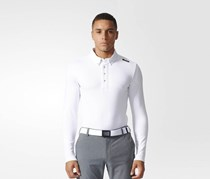 Adidas Men Golf Wear Long Sleeve Top, White