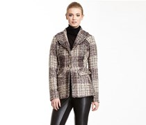 Jessica Simpson Shawl Collar Tweed Coat, Brown