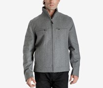 Michael Kors Men's Hipster Coat, Heather Grey