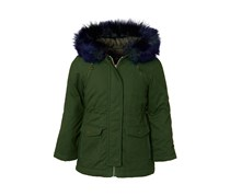 Tahari Kids Girl Faux Fur-Trim Hooded, Forest