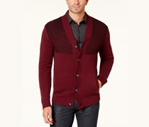 Alfani Men's Button-Up Cardigan, Port