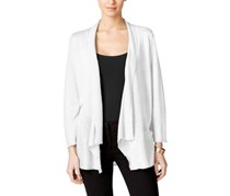 Alfani Draped Cardigan, Bright White