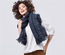 Women's Scarf, Dark Blue