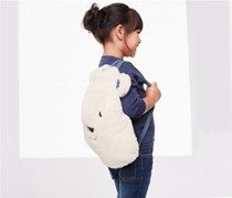 Kid's Bag Polar Bear, White/Blue