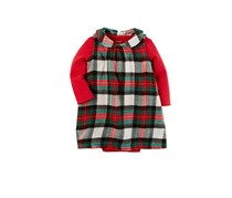 Carters 2-Pcs. Pointelle Bodysuit Plaid Dress, Red Combo