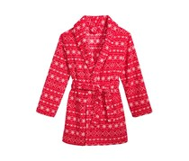 Max & Olivia Fair Isle Robe, Red Combo