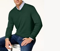 Club Room Men's V-Neck Sweater, Ivy League/Green