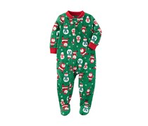 Carters 1-Pc. Santa-Print Footed Pajama, Green Combo