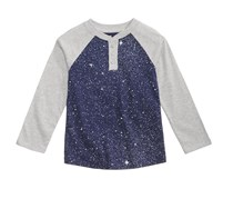 Epic Threads Galaxy Henley Tops, Medieval Blue/Gray