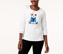 Polar Bear Holiday Graphic Top, Winter White