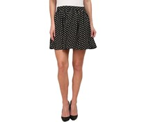 Lucky Brand Woodstamp Flirty Skirt, Black