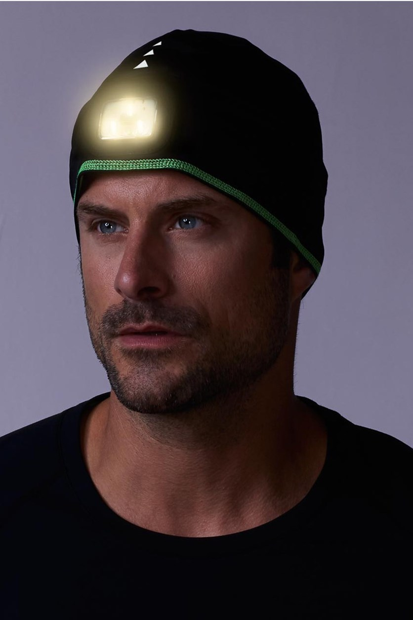 Thermal Hat With LED Light, Black