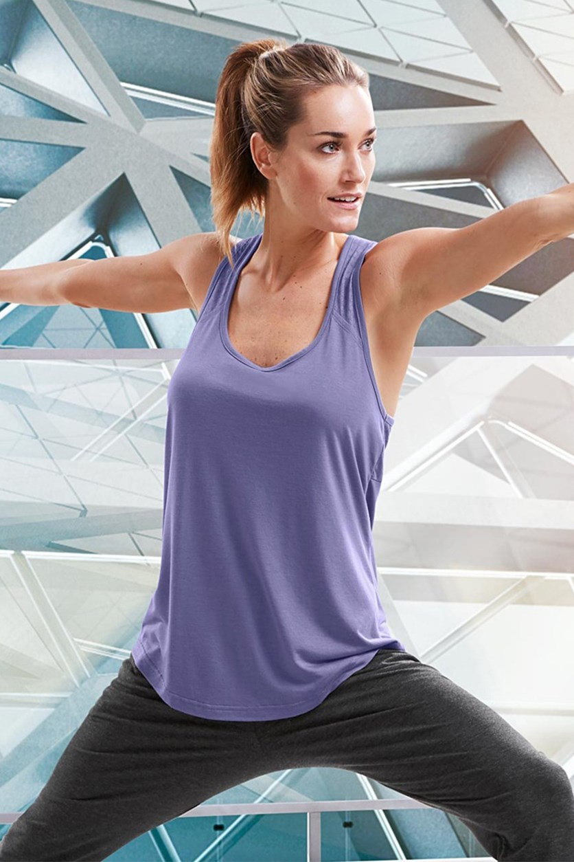 Womens Fitness Top, Purple