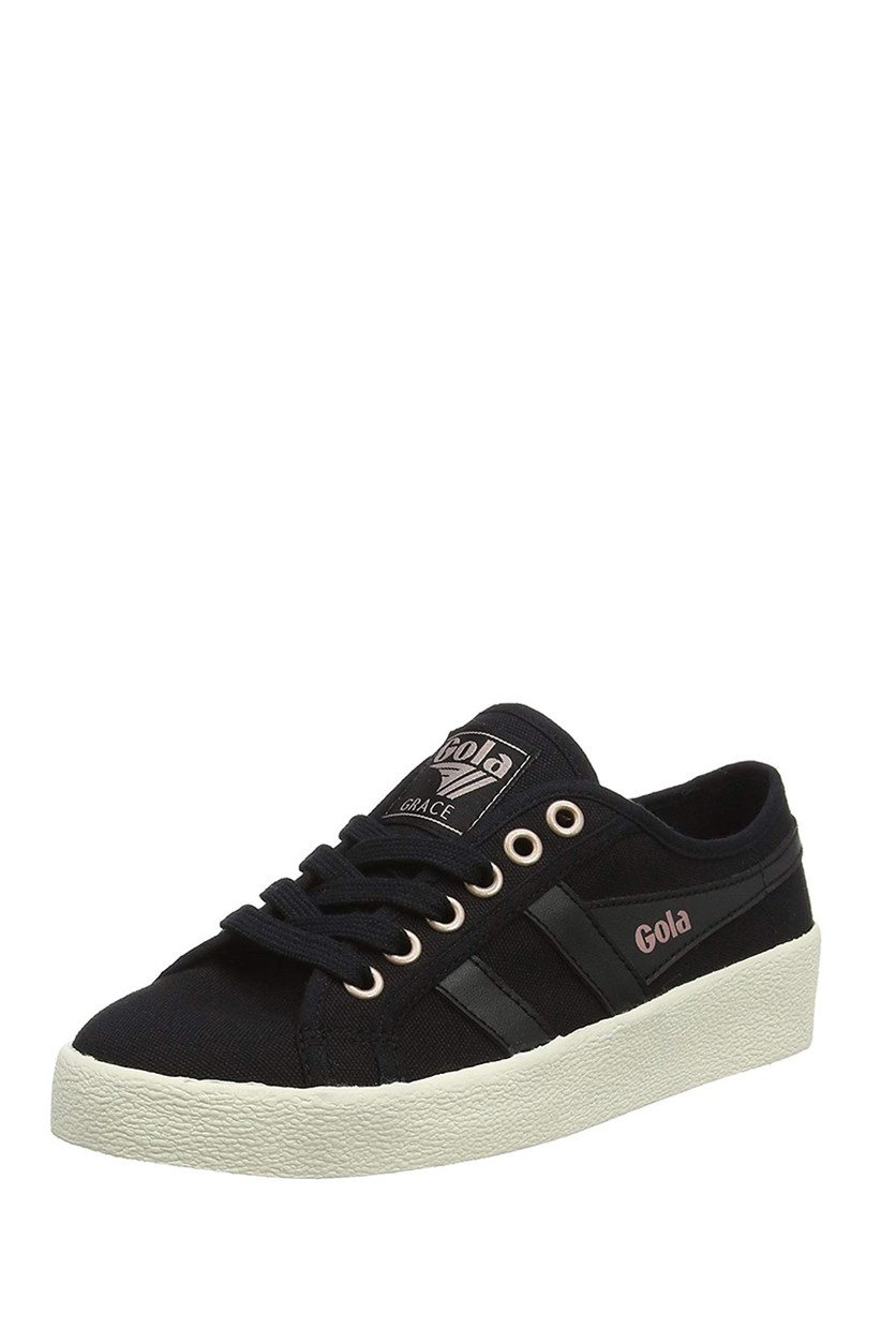 Women's Grace Sneakers, Black/Off White