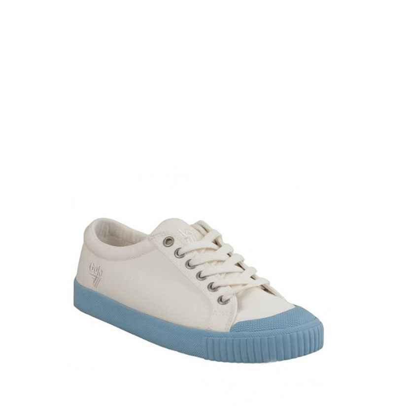 Women's Tiebreak Candy Low-Top Sneaker, Powder Blue/Off White