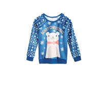 Cold Crush Evy of California Holiday Bear Woobie, Dark Blue