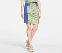 Kensie Women's Colorblock Pencil Skirt, Blue