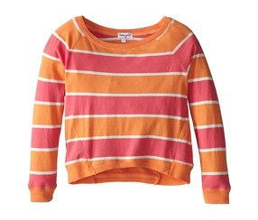 Splendid Girl's Classic Stripe Top, Orange/Pink/White