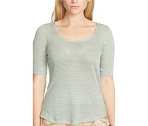 Ralph Lauren Plus Size Linen Scoop Neck Tee, Sage