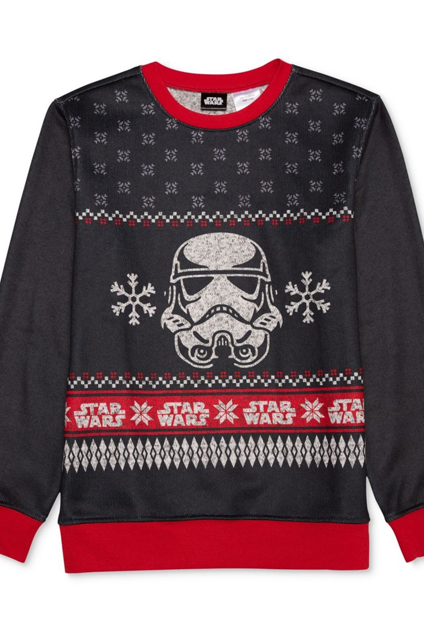 Stormtrooper Pullover Sweater, Charcoal/Red Combo