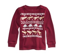 Epic Threads Winter-Dino Graphic-Print Tops, Cordial