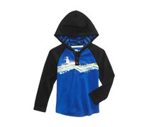 Epic Threads Snowman Graphic-Print Hooded Shirt, Lazulite